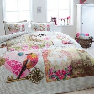 Sale*Dekbedovertrek Vintage Love Multi Dreamhouse