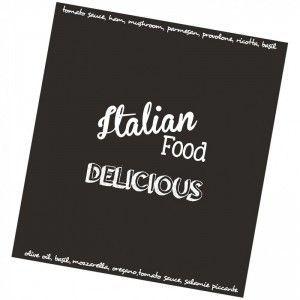 DDDDD keukendoek Italian food zwart 50*50cm 10% korting