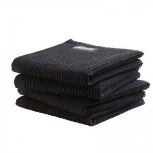 DDDDD Vaatdoek basic neutral black (per 4 stuks)