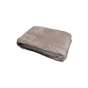 Unique Living fleece plaid grijs