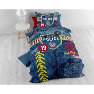 Dekbedovertrek Sleeptime Pure Policeman Blue