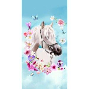Strandlaken Goodmorning poly velours 75x150 paard