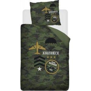 Dekbedovertrek Snoozing Airforce groen