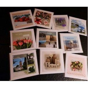 10 fotokaarten Beterschap/Sterkte/Blanco